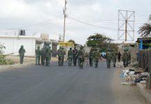 Despliegue del ejército en la Guajira