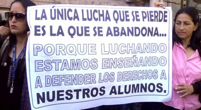 educadores protestan una vez más por mejores condiciones salariales