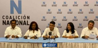 Oposición de Nicaragua integra la Coalición Nacional