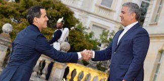 Juan Guaidó e Iván Duque se encuentran en Colombia