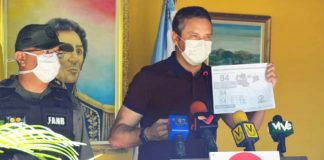 El gobernador del estado Guárico. José Vásquez, durante un recuento de las medidas de prevención tomadas en el estado Guárico   Foto: Gobernación del estado Guárico