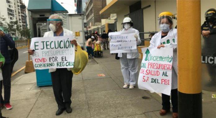 Los manifestantes aseguran que sus compañeros murieron por falta de insumos | Foto: David Villano, DW
