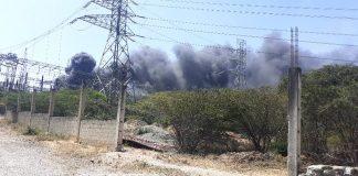 Incendio en subestación eléctrica de Barquisimeto