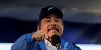 El presidente de Nicaragua durante un mitin en Managua