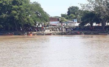 Paso de canoas río Arauca